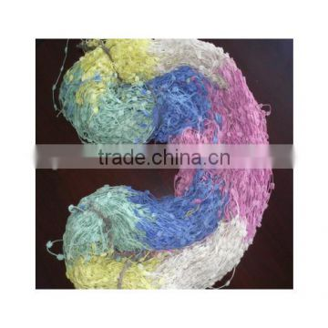 100% Polyester Crochet Fancy Yarn For Knitting Scarf