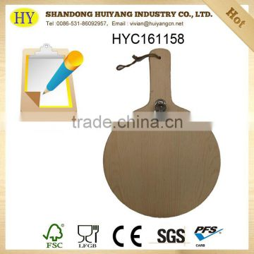 wholesale custom pine wood writing pad board with clips