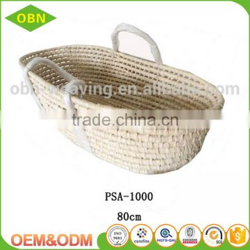 Corn husk baby sleeping basket mose basket