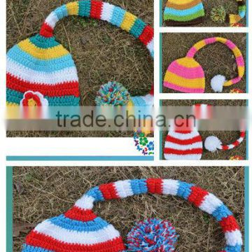 Crochet Hat Wholesale Jesters cap have 5 design Crochet Baby Cap