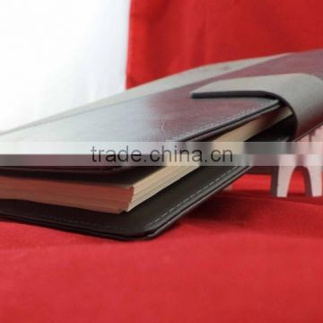 Leather discoloration cover spiral note book , tear off notepad , hotel notepad