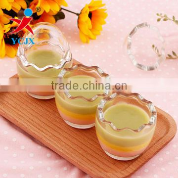 WHOLESALE CLEAR LITTLE EGG BOTTLE / GLASS EGG PUDDING BOTTLE