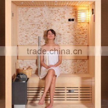 Dry sauna room with cultured stone WS-1301