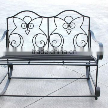 Outdoor garden metal swing bench