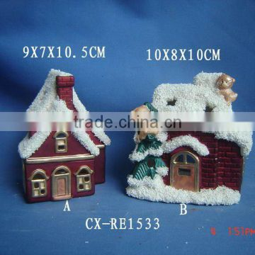 ceramic christmas house