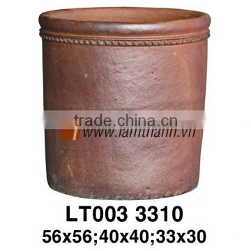 Vietnam Round Pattern Ceramic High Fired Pot For Manufacturer