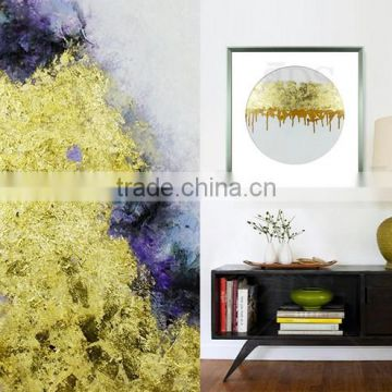 1 Piece can Be Customized Framed Handmade Oil Painting with Gold Leaf