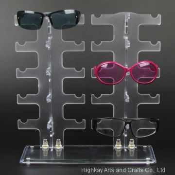 Plastic Glasses Sunglasses Display Stand Rack Holder For 10 Pairs