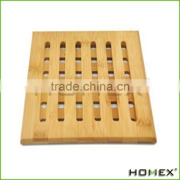 Personalized Bamboo Table Plate Mat/ Bamboo Trivet Homex_BSCI/ FDA/ LFGB