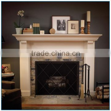 Jane European Style White Marble Fireplace Mantel for Room