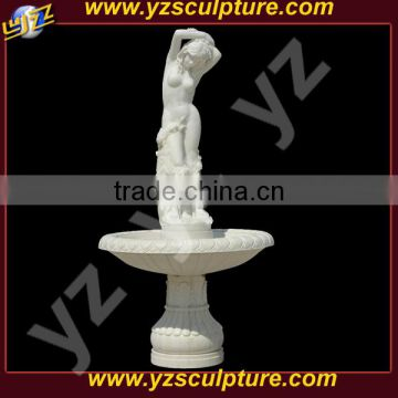 garden nude lady water fountains for decorative