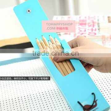 16.5cm*6cm pp funny pencil case with botton