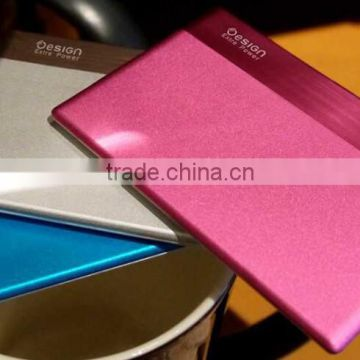 custom logo credit card power bank/mini power bank 1500mah