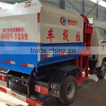 dongfeng 3 tons mini side loading compactor garbage truck