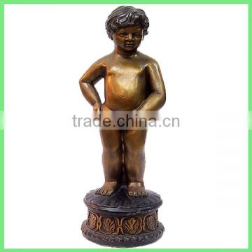 cast boy statue peeing fountain for sale