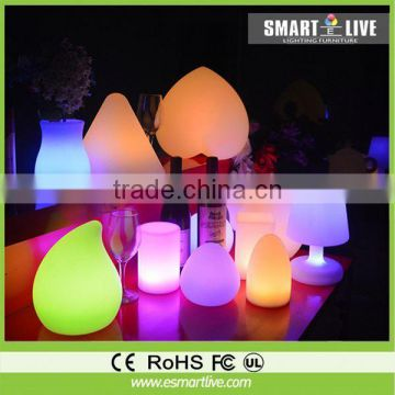 PE Material Rotational Moulding Plastic Modern waterproof LED light Flowerpot