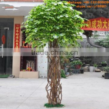 LXY081904 plastic tree ornamental ficus bonsai tree artificial banyan bonsai