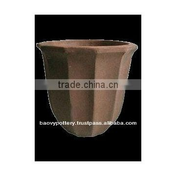 High Fired Stoneware Black-clay Planter
