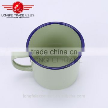 yiwu hot sale cheap bulk useful steel enamel coffee mug porcelain mug