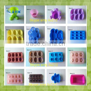 FDA approved silicone microwave safe cake baking pan manufacture