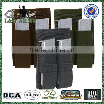 Tactical Removable Double Pistol Mag Pouch, hook and loop fastener Compatible