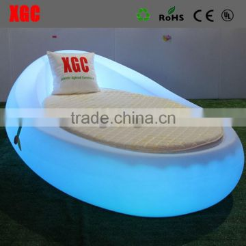 High quality beautiful LED lighting bed/Modern Beds/led light bed