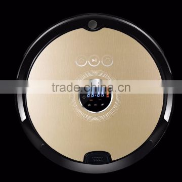 Shenzhen China 2016 robot vacuum cleaner voice prompt robot low noise automatic robotic vacuum cleaner