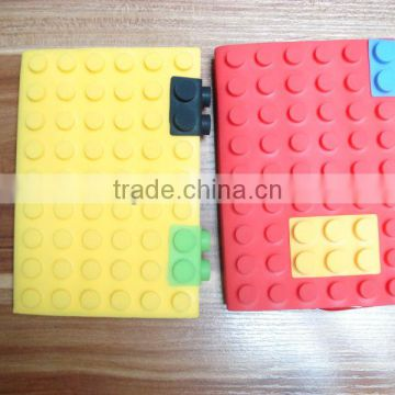 fashionable toy bricks colorful silicone book slipcase
