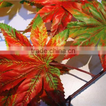 Home and outdoor garden table wedding christmas decoration 60cm or 2ft Height artificial colorfully maple leaf E06 0620