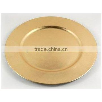 gold plated wedding charger plate