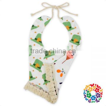 wholesale fancy double layers baby bibs with tassels