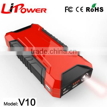 Factory price 12v lithium polymer battery multi-function jump starter with LED light