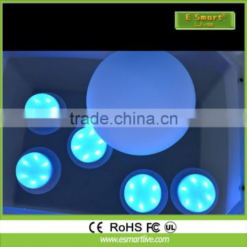 IP68 Plastic swimming pool led light ball /color changing orb/rechargeable led ball light