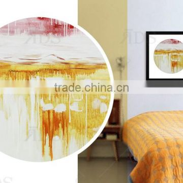 Hot sale art painting with golden foil for wall art decoration
