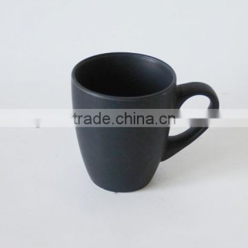 Black promotional ceramic coffee mug