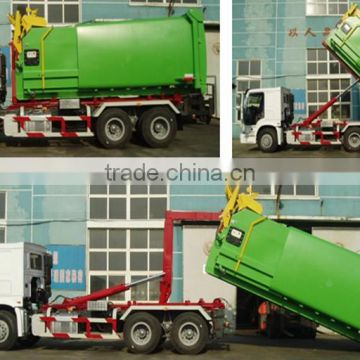 6*4 howo garbage can cleaning truck