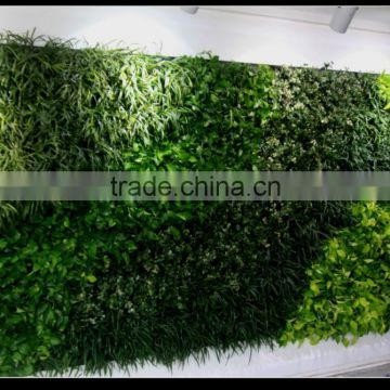 Home and outdoor decoration synthetic cheap artificial vertical green grass wall E08 0416