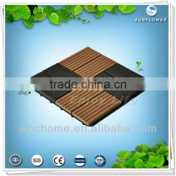 Outdoor wpc deck tiles for household