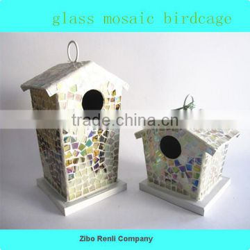 Best Selling Colored Wooden Bird House for Garden Decor