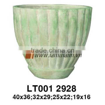 East Asia Romance Streaky Green Painted Flower Pot For Manufacturer