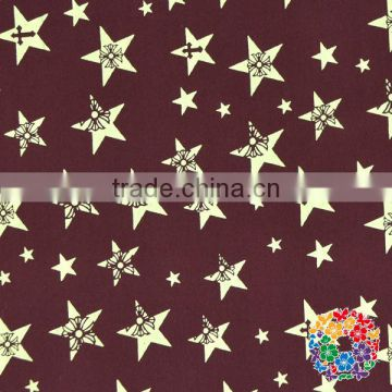 Cotton Fabric Bundle Quilting Sewing Fabric Gold Stars Printed Brown Cotton Fabrics