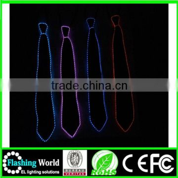 attractive designs good reputation over the world flashing led necktie