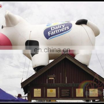 Best Price Inflatable Cartoon Milk Cow Outdoor Promotional Cow For Advertising