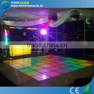 60*60cm LED Dance Floor Panel with color change remote control