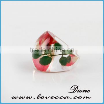 Botanical Jewelry Real WildFlower Nature Flower Resin Rings