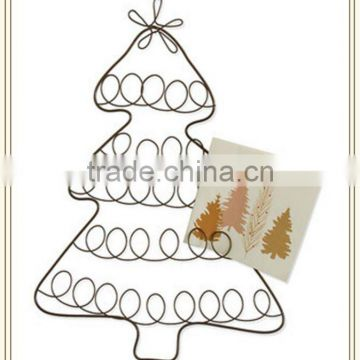 New design Iron wire tree card holder