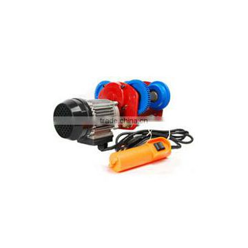 Factory Direct Mini Wire Rope Electric Hoist with trolley