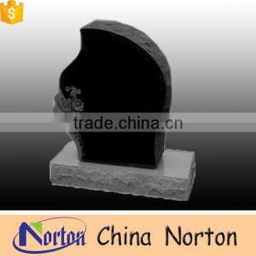 Classical granite carving flower headstone tombstone with high qulitity NTGT-021L