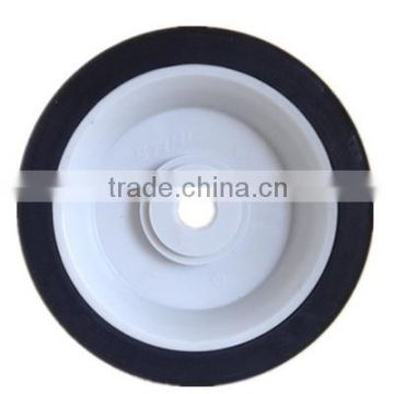5 inch semi-pneumatic rubber wheel for hand trolley, luggage