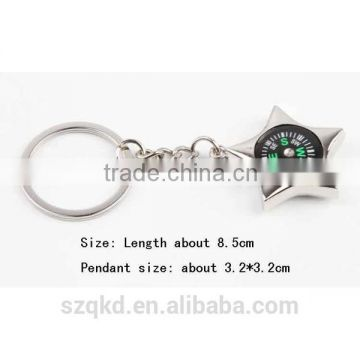 Outdoor Camping Small Mini Compass Keychain